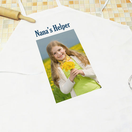 Portrait Photo & Text Personalized Adult Apron