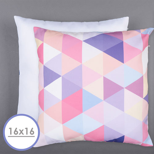 16 X 16 All Over Print Pillow (White Back) Cushion (No Insert)