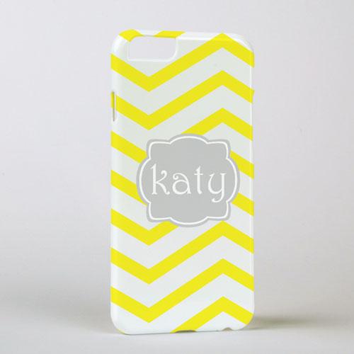 Lemon Chevron Personalized iPhone 6 Case