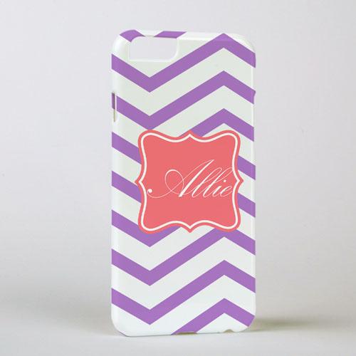 Lavender Chevron Personalized iPhone 6 Case