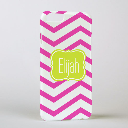 Fuchsia Chevron Personalized iPhone 6 Case