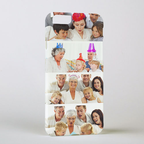 Personalized Printed White Four Collage Photo Personalized iPhone 6 + Case Case Cover