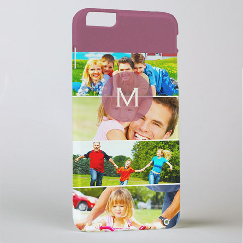 Six Collage Photo Initial Personalized iPhone 6+ Case