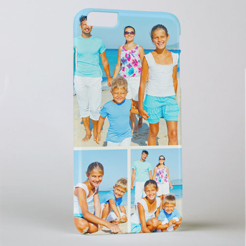 Khaki Three Collage Photo Personalized iPhone 6+ Case