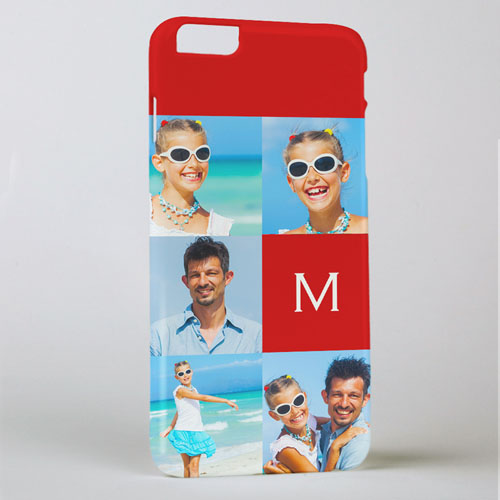 Red Five Collage Photo Initial Personalized iPhone 6 + Phone Case