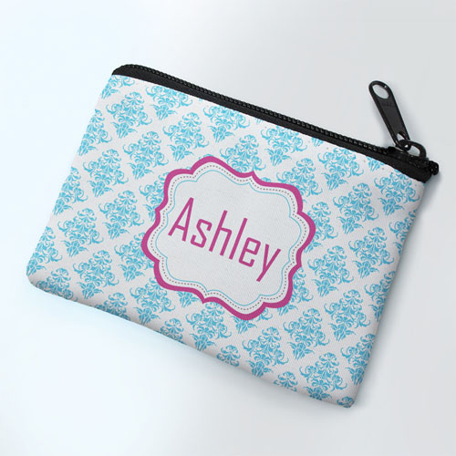Sky Vintage Personalized Coin Purse
