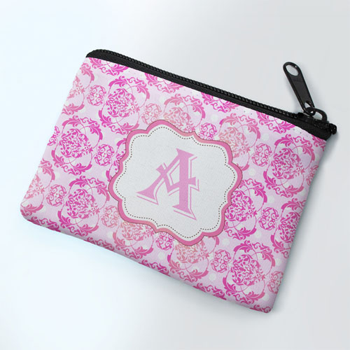 Pink Vintage Personalized Coin Purse