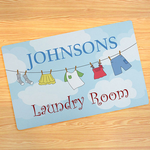 Laundry Room Personalized Doormat