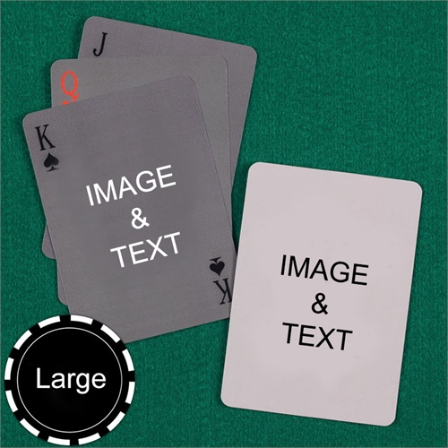 Personalized Large Size Simple Custom 2 Sides Playing Cards