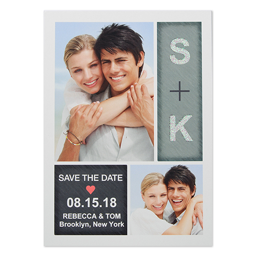 Pure Radiance Personalized Photo Save The Date Card 5X7 Cards