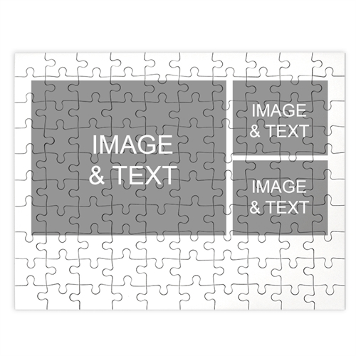 Personalized White 3 Collage 12X16.5 Jigsaw Puzzle