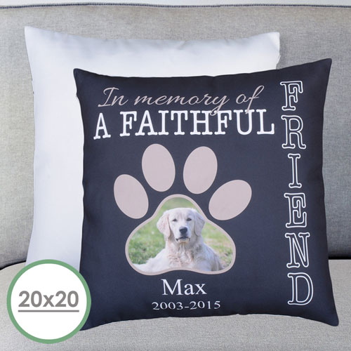 Faithful Friend Personalized Large Pillow Cushion Cover 20