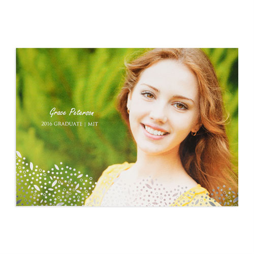 foil silver refined graduation personalized photo graduation announcement cards - Graduation Announcement Cards