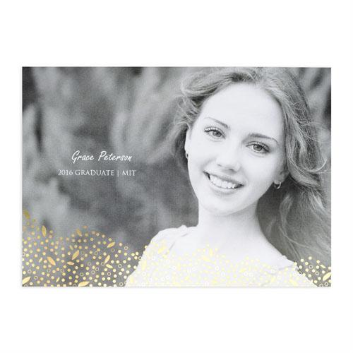 Foil Gold Refined Graduation Personalized Photo Graduation Announcement Cards