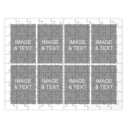 Personalized White 8 Collage 12X16.5 Photo Puzzle