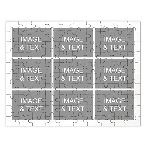 Personalized White 9 Collage 12X16.5 Photo Puzzle