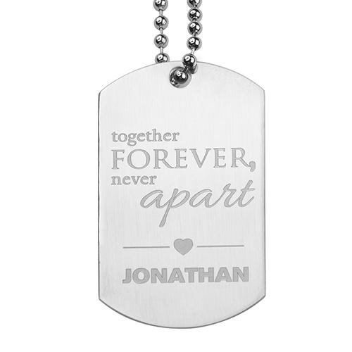Together Forever Engraved Message Pendant