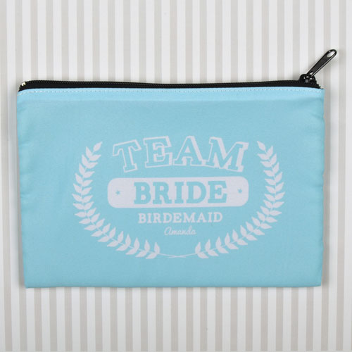 Team Bride Personalized Cosmetic Bag, 6X9