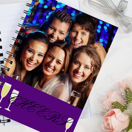 Personalized Cheers Wedding Notebook
