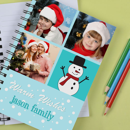 Personalized Warm Wishes Notebook
