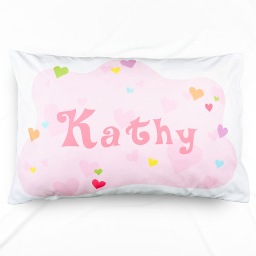 Baby All Hearts Personalized Name Pillowcase