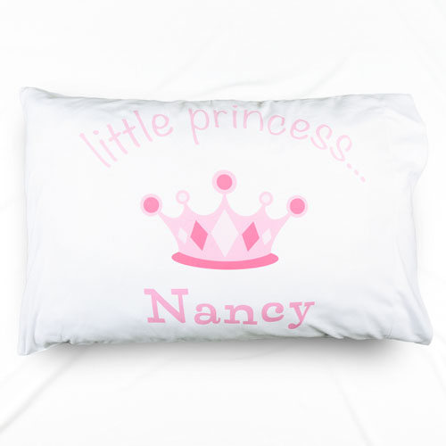 Little Princess Personalized Name Pillowcase