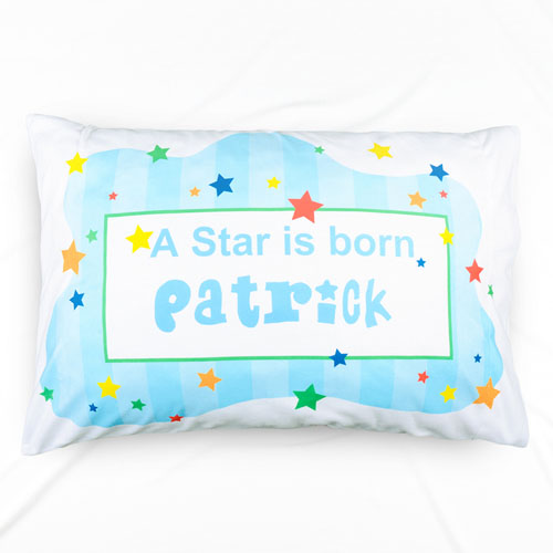 A New Star Boy Personalized Name Pillowcase