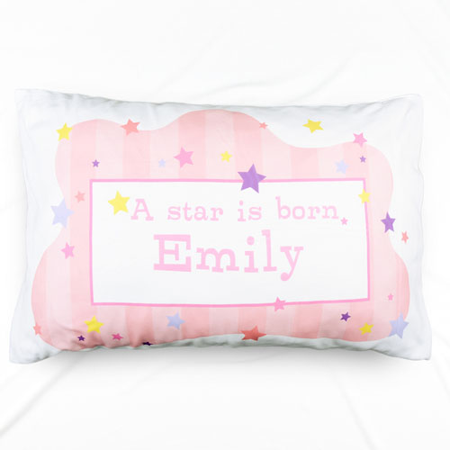 A New Star Girl Personalized Name Pillowcase