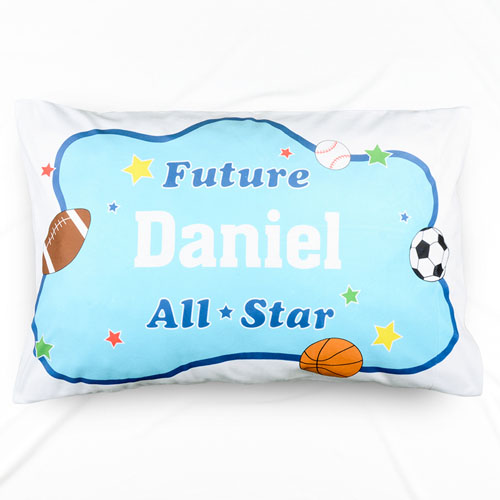 Future All Star Personalized Name Pillowcase