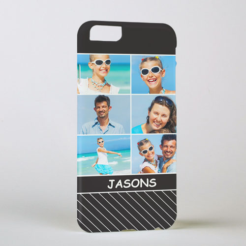 Black Stripe Personalized Photo iPhone 6 Case
