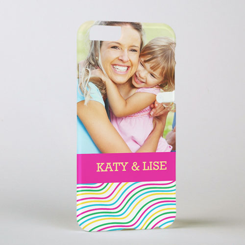 Rainbow Pattern Personalized Photo iPhone 6 Case