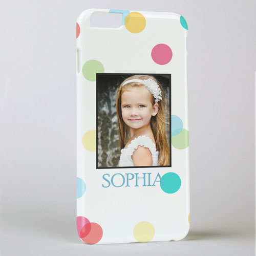 Colorful Dots Personalized Photo iPhone 6 + Case