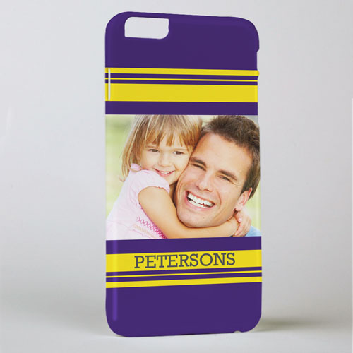 Stripe Personalized Photo iPhone 6+ Phone Case