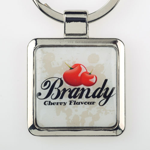 Custom Imprint Square Metal Keychain (Small)