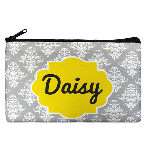 Grey Vintage Personalized Cosmetic Bag