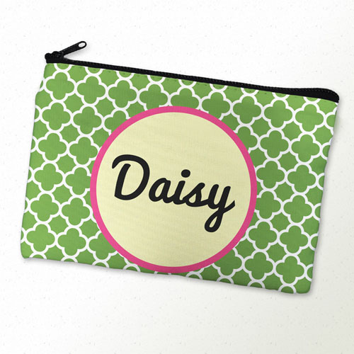 Green Clover Personalized Cosmetic Bag