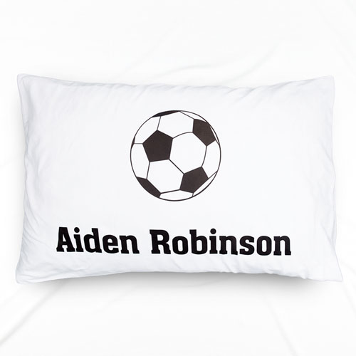 Soccer Personalized Name Pillowcase