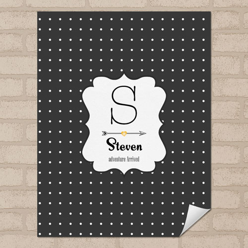 Dots Personalized Name Poster Print Small 8.5