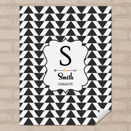 Triangle Personalized Name Poster Print Small 8.5