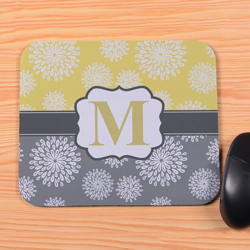 create mouse pad view create your own lemon grey floral personalized mouse pad