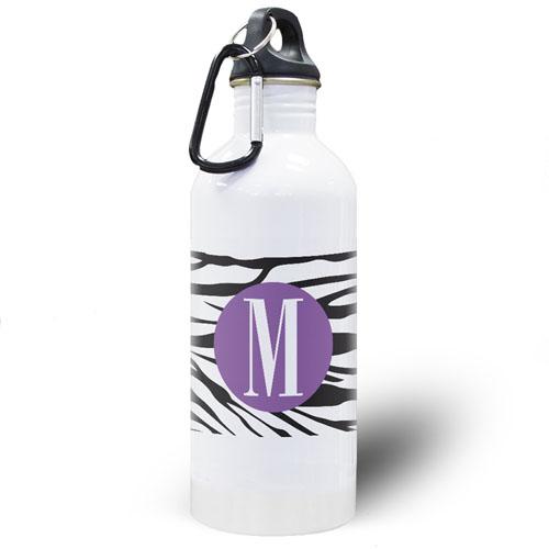 Zebra Print Personalized Water Bottle