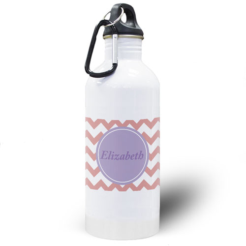 Carol Chevron Personalized Water Bottle