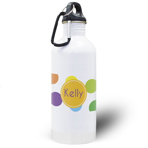 Colorful Dots Personalized Water Bottle
