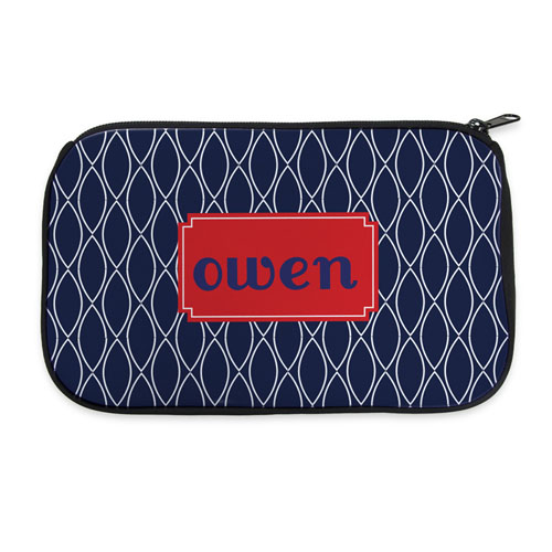 Navy Clover Personalized Neoprene Cosmetic Bag