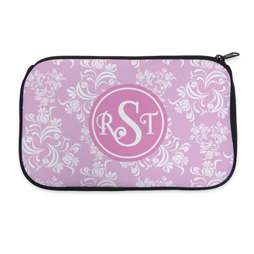 Pink Vintage Personalized Neoprene Cosmetic Bag