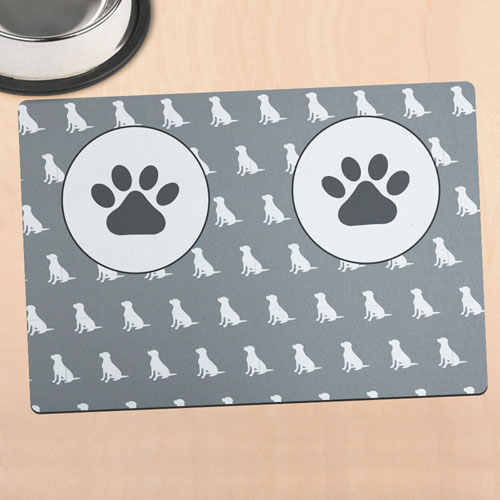 Personalized Dog Bowl Mat