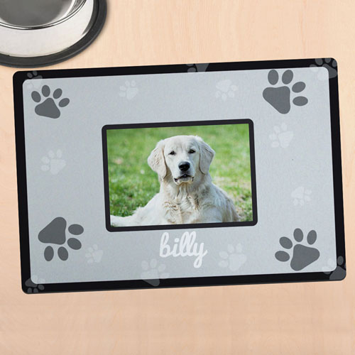 Black Personalized Photo Meal Mat