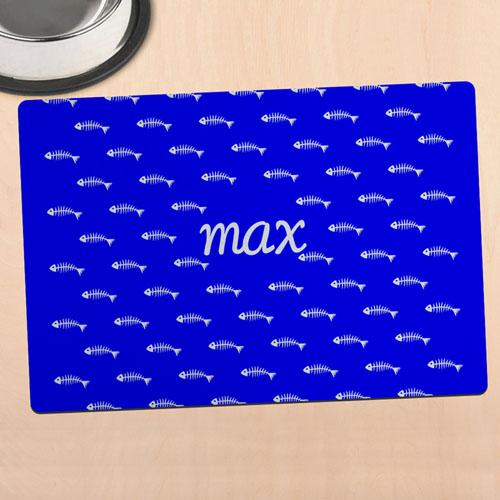 Blue Kitty Personalized Meal Mat