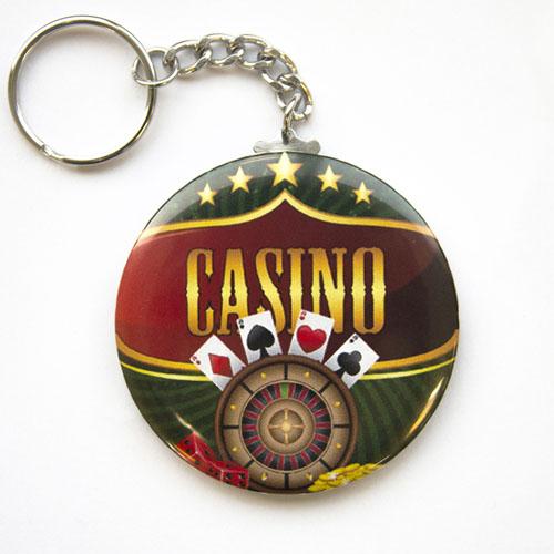Custom Full Color Imprint Button Keychain