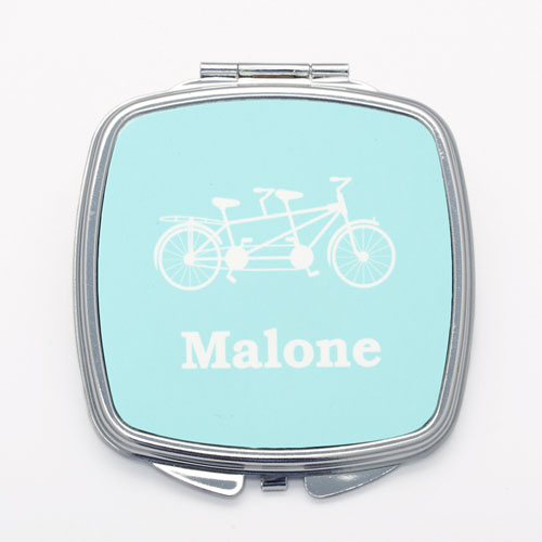 Tandem Bike Personalized Wedding Mirror